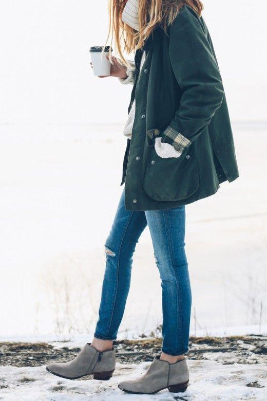 Lookbook dress warm jacket outfits, winter clothing, street fashion
