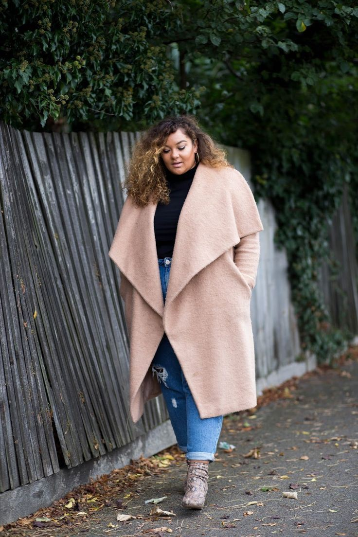 Beige and brown trendy clothing ideas with fur clothing, jeans, coat