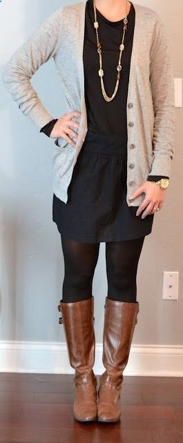 Long sweater leggings and boots