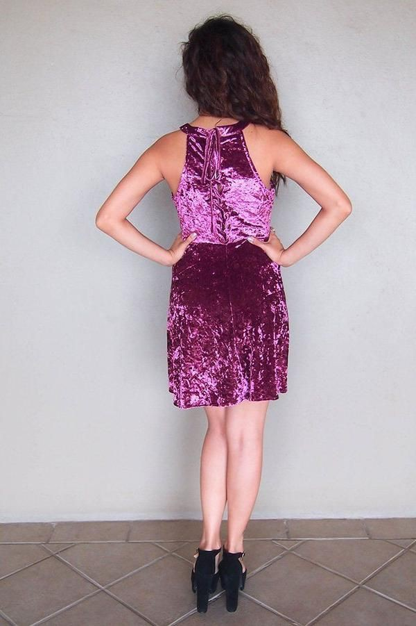Magenta and purple cocktail dress day dress