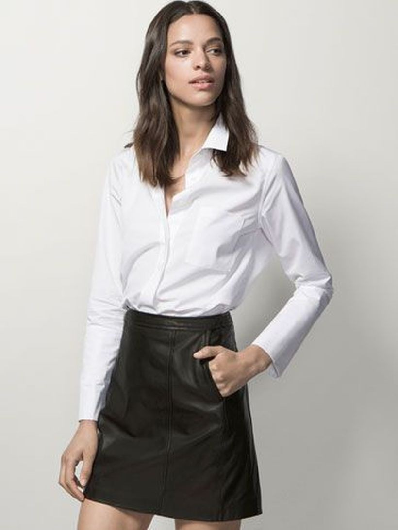 Leather skirt massimo dutti, leather skirt, fashion model, pencil skirt