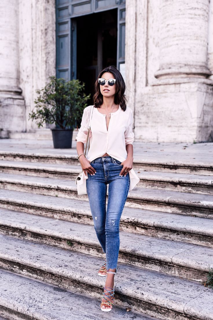 Cute outfits with sandals slim fit pants, street fashion