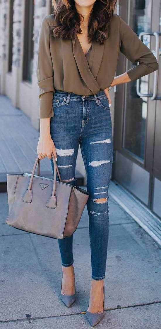 Outfits jeans y tacones
