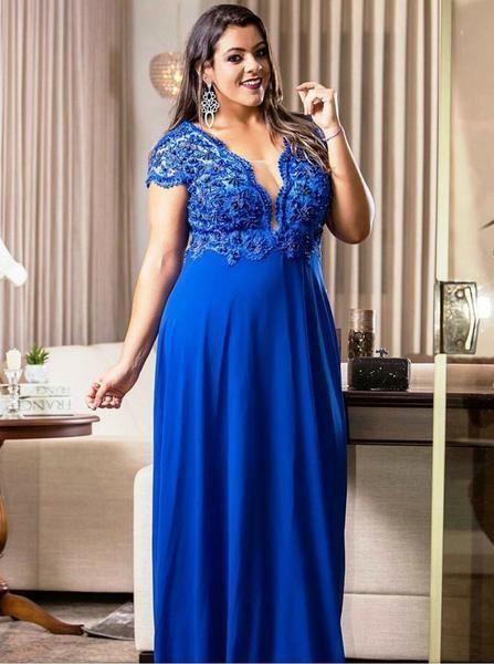 Royal blue plus size dress