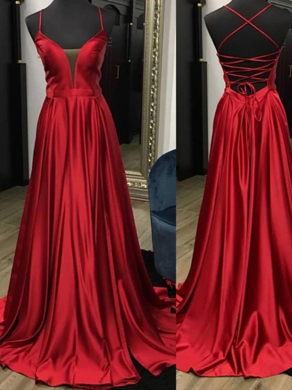 Red outfit ideas with bridal party dress, backless dress, cocktail dress