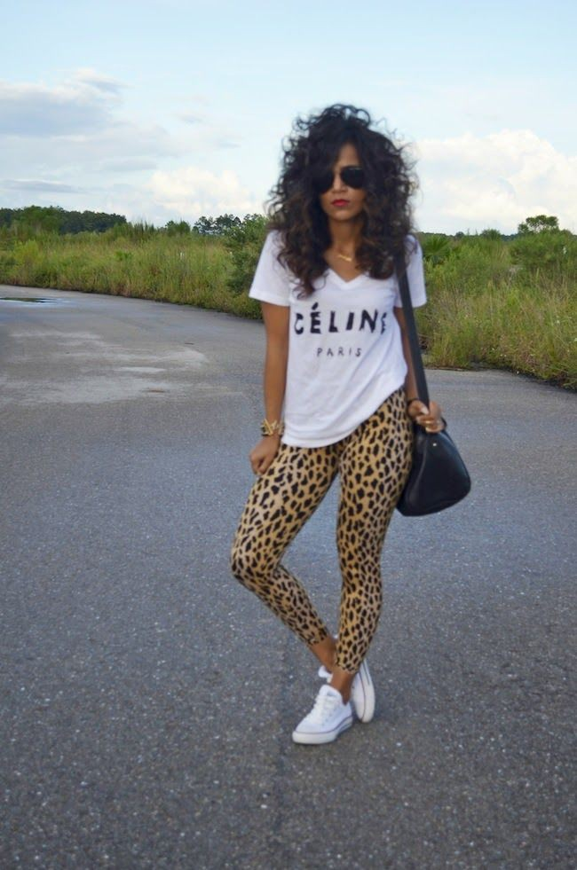Summer animal print leggings outfits