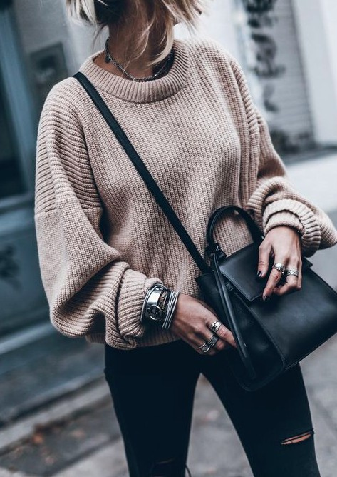 Colour outfit big sweater outfits, street fashion, casual wear, polo neck