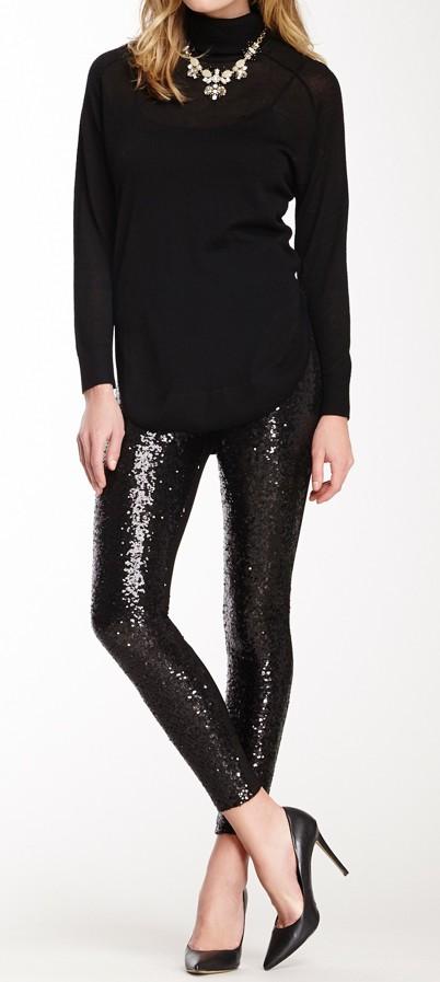 Black sequin pant outfit slim fit pants, sequin leggings