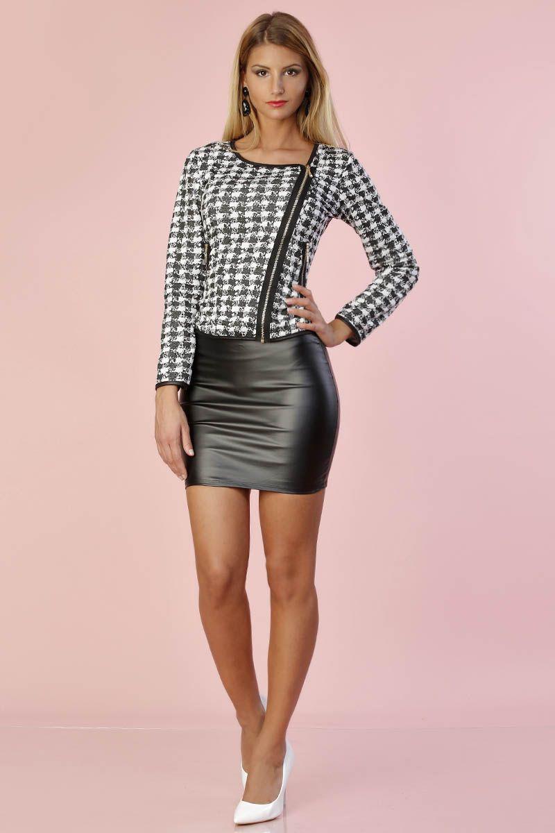 Leather miniskirt and heels high heeled shoe, leather skirt