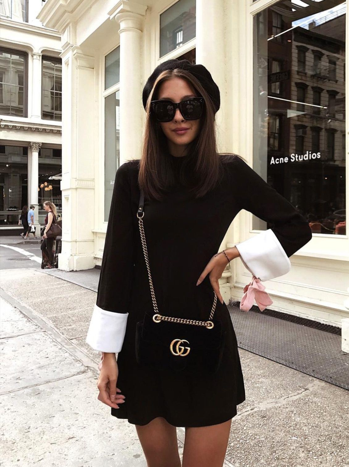 Colour outfit, you must try cute french outfits little black dress, french knickers