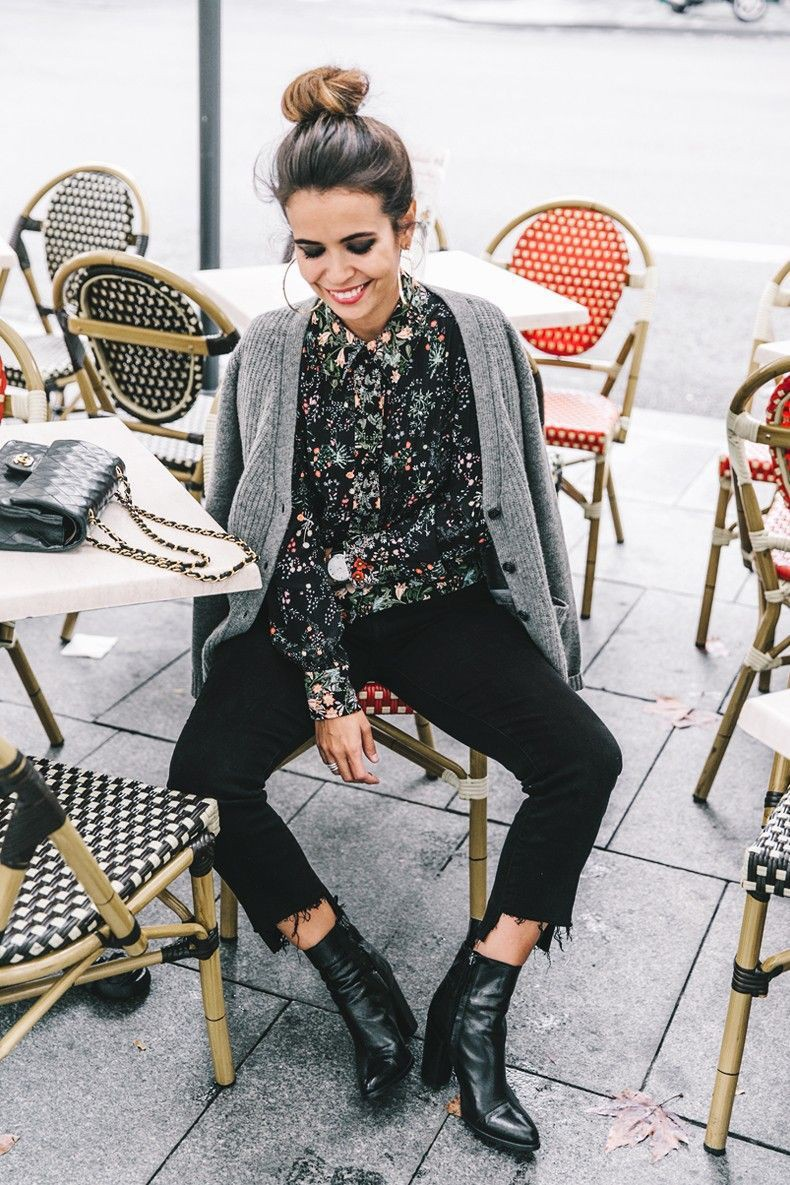 Floral shirt outfit women, street fashion, photo shoot, crop top, t shirt