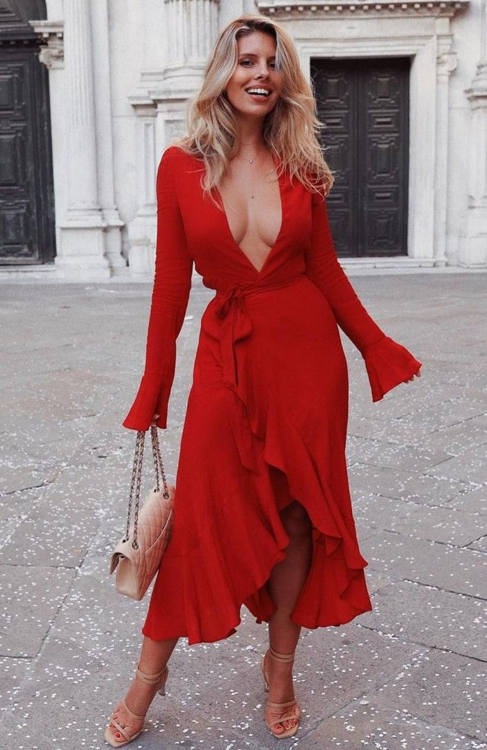 Red outfit ideas with cocktail dress, evening gown, dress