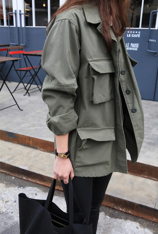 Colour combination with trench coat, trousers, overcoat