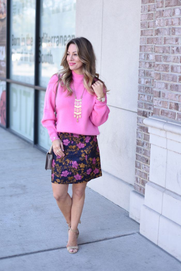Magenta and purple vogue ideas with miniskirt, sweater, shorts