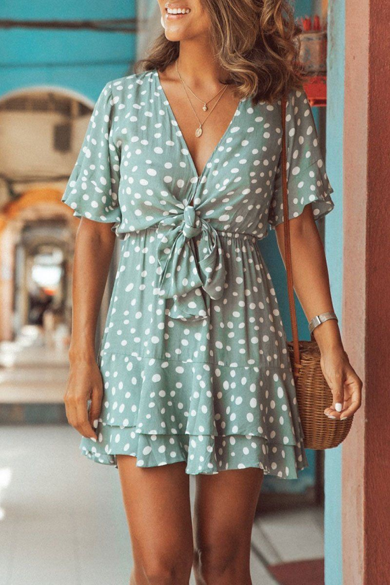 Turquoise classy outfit with fashion model, casual wear