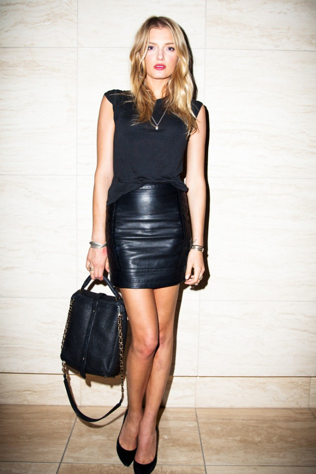 Hot girl leather skirt, cocktail dress, leather skirt, fashion model, pencil skirt, casual wear, ...
