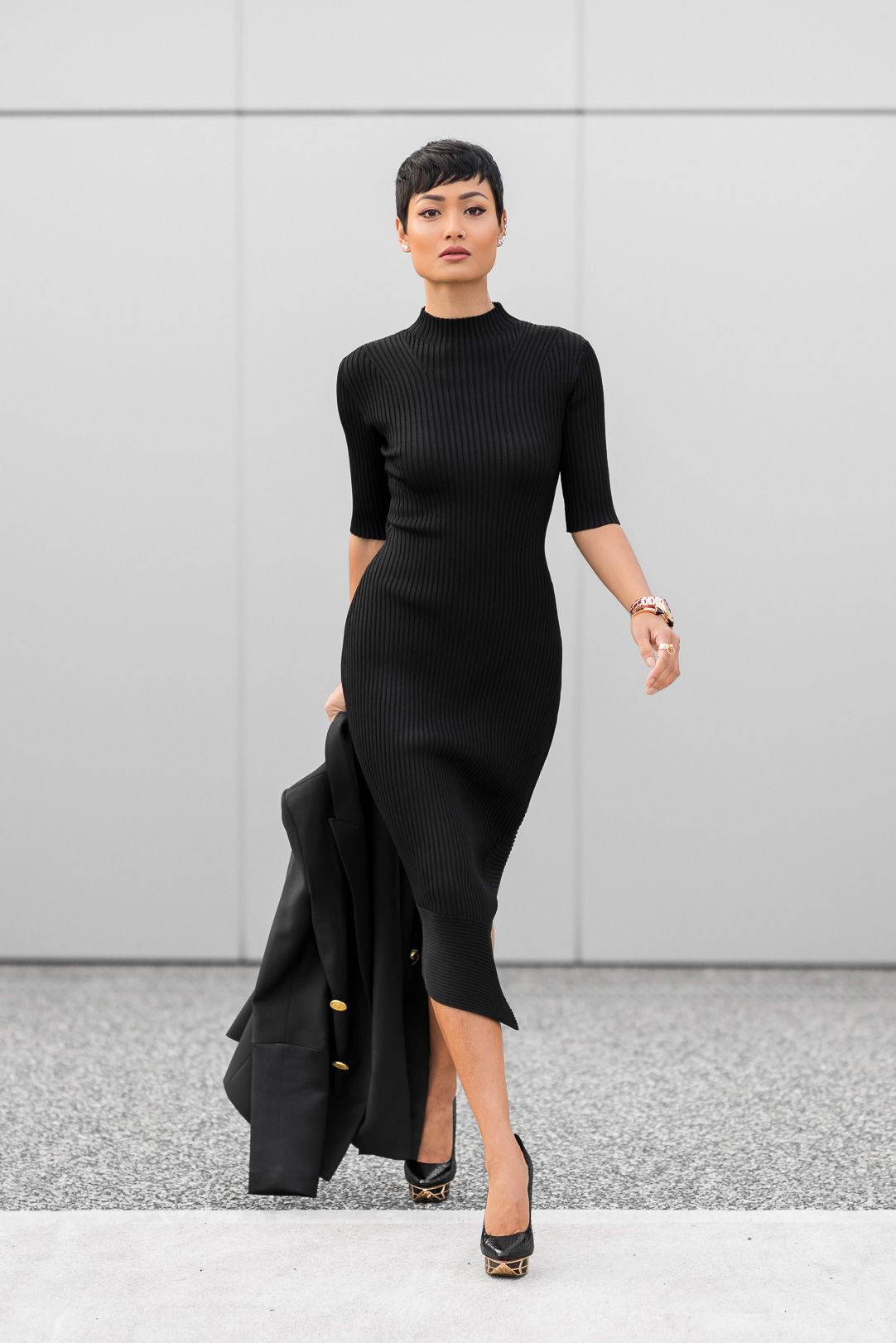 Black instagram fashion with little black dress, cocktail dress, evening gown
