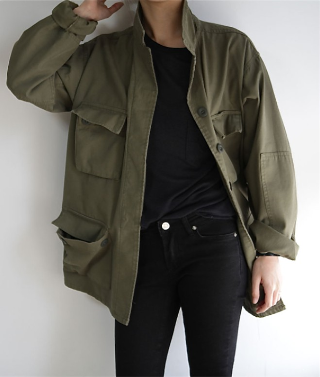 Khaki and green colour outfit, you must try with leather jacket, overcoat, blazer