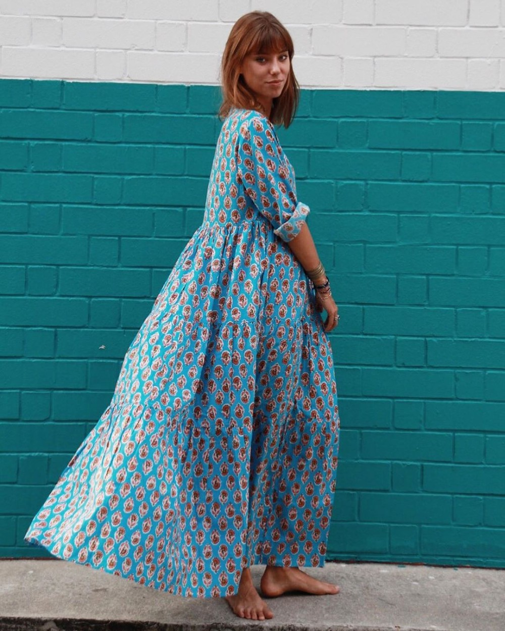 Turquoise and aqua classy outfit with dress day dress, skirt