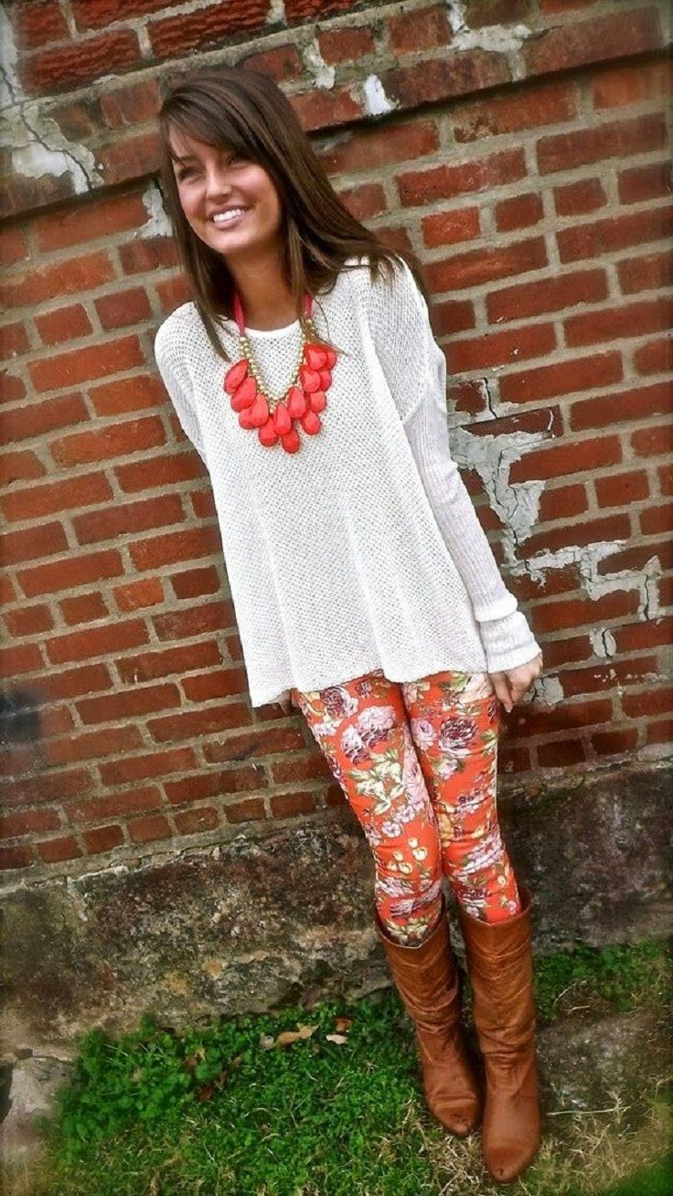Outfits to wear with patterned leggings