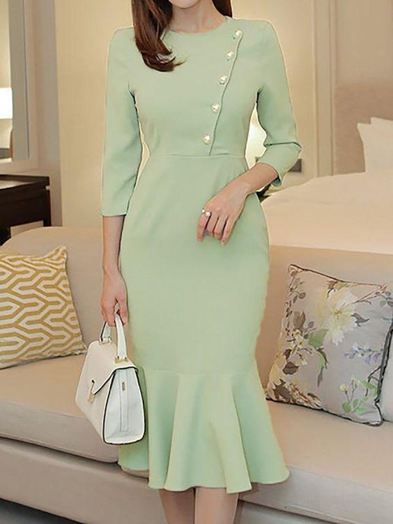 Green and white dress, outfit designs, clothing