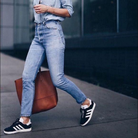 Outfit Pinterest gazelle adidas style, street fashion