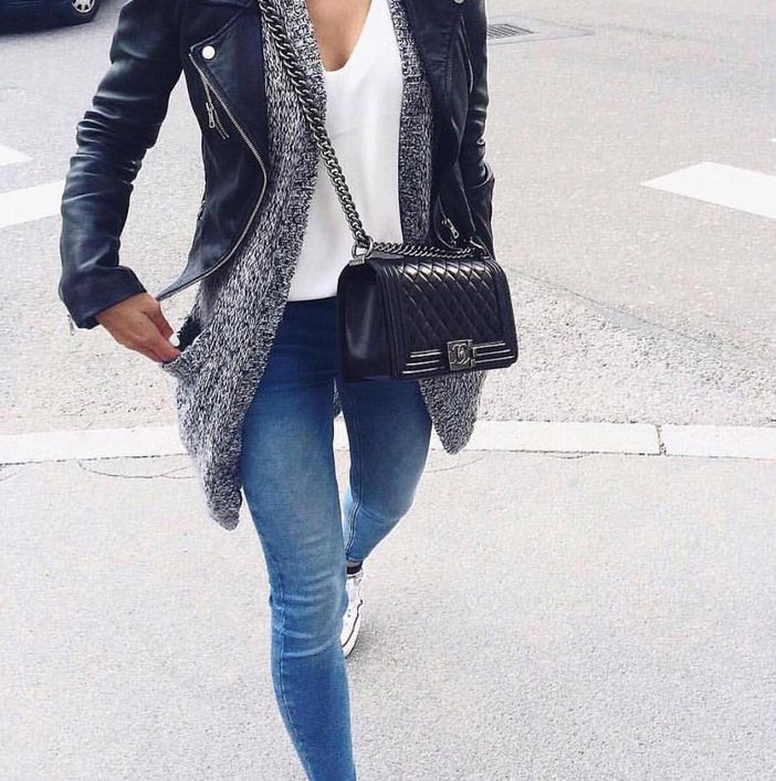 Cobalt blue and black colour outfit, you must try with leggings, jacket, blazer