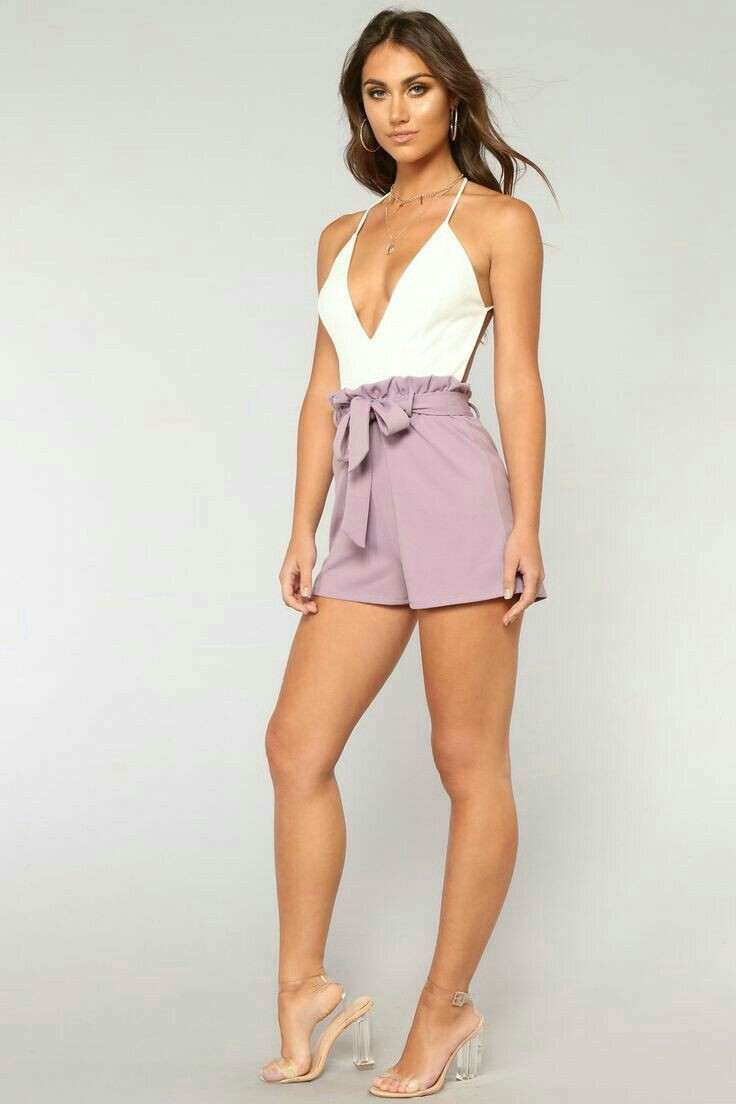 White and lavender romper, Romper suit