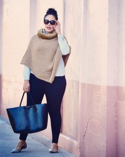 Brown and white clothing ideas with tights, jeans