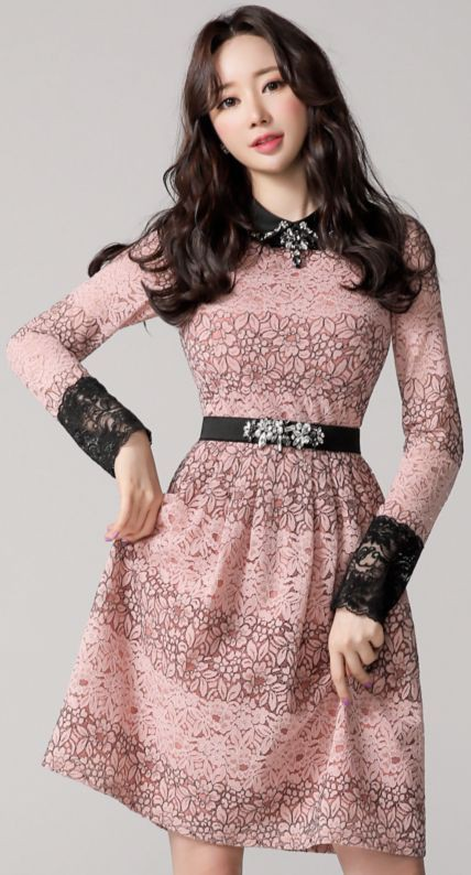 pink outfit style with cocktail dress, outfit designs