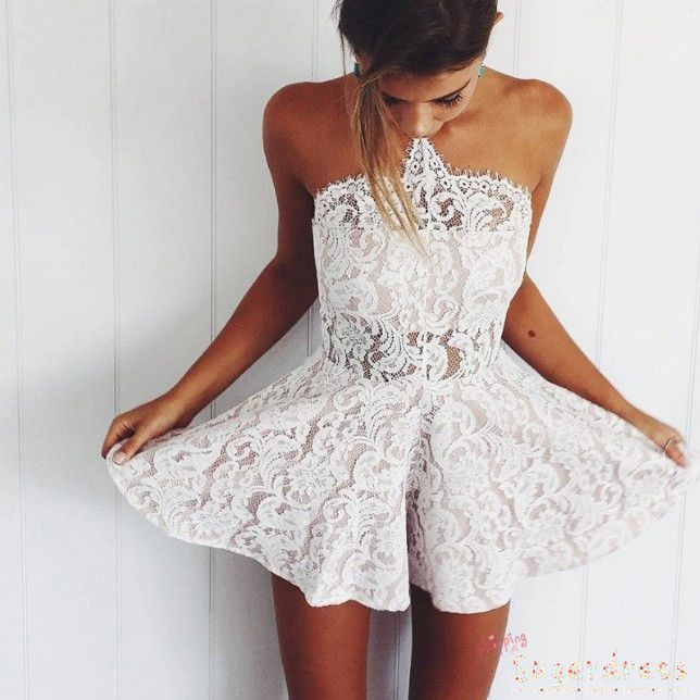 Colour outfit, you must try sexy lace outfits, strapless dress, backless dress, cocktail dress,  ...