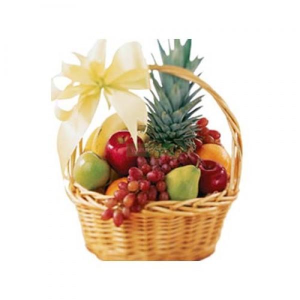 Attractive Basket Fresh Fruits