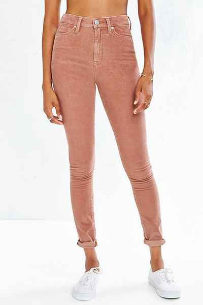 Womens high rise corduroy pants