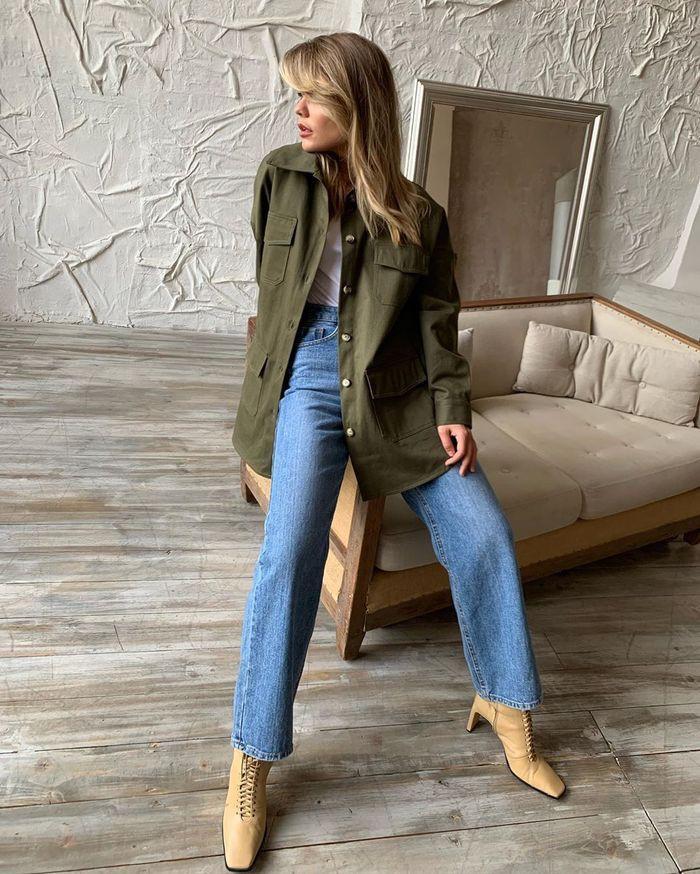 Khaki colour ideas with trousers, jacket, parka