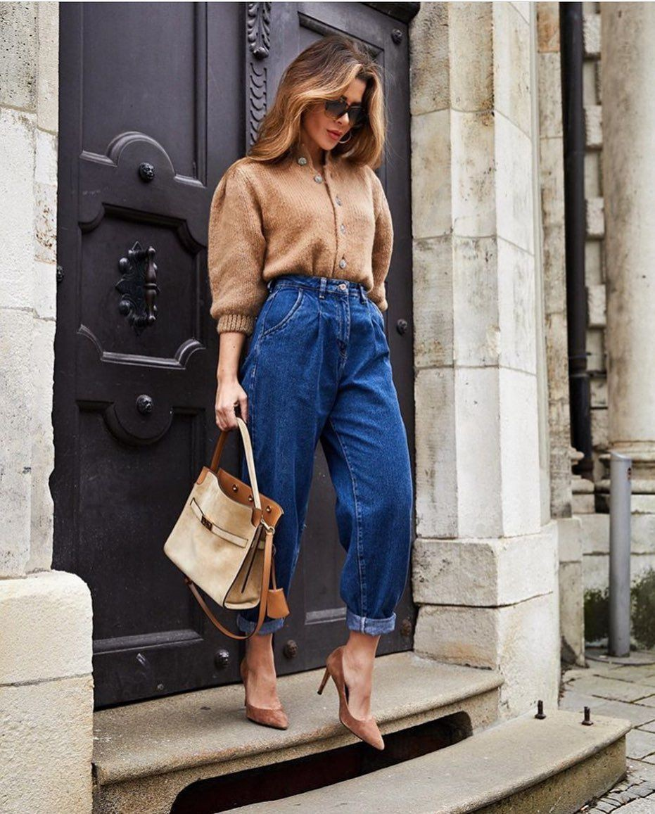 Khaki and brown outfit ideas with trousers, denim, jeans