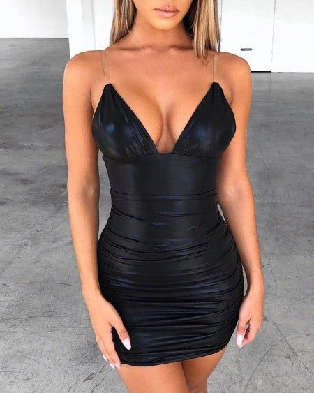 Black colour outfit, you must try with little black dress, strapless dress, backless dress
