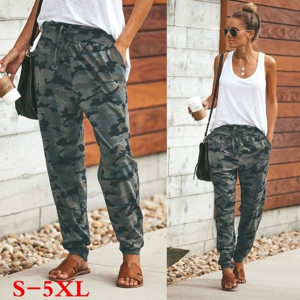 Camo joggers outfit womens, military camouflage, casual sweatpants, camo joggers, casual wear, c ...