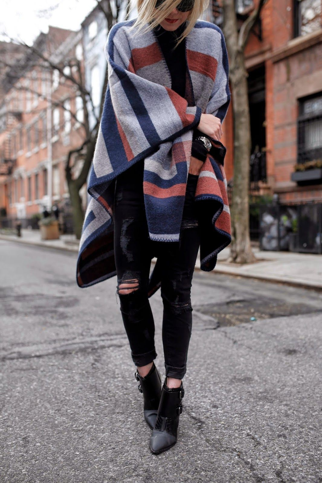 Colour outfit, you must try with tartan, jeans, coat
