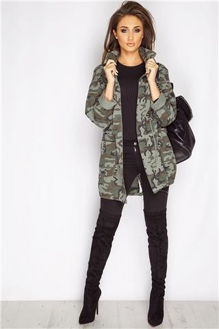Lookbook fashion military jacket outfit camouflage military jacket, military camouflage