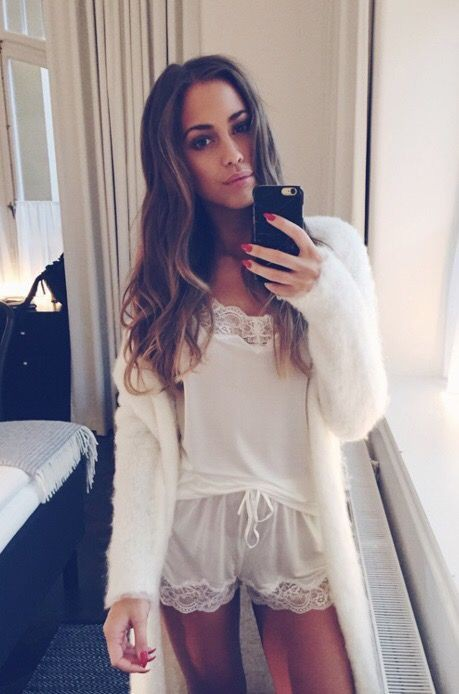 Colour outfit, you must try winters pajama selfie, pyjama set, long hair