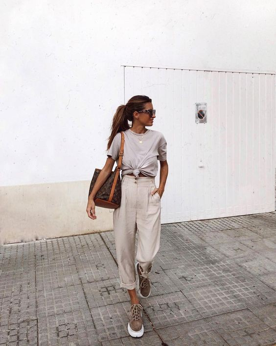 White colour outfit, you must try with trousers, shirt, top