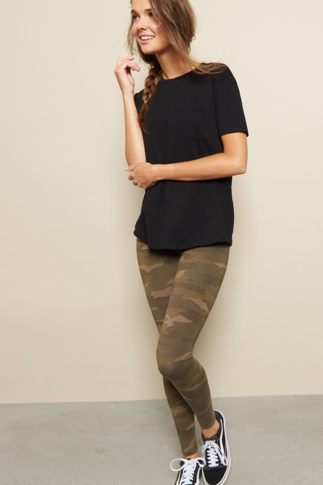 Khaki and black colour outfit, you must try with leggings, tights, jeans