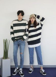 Outfit Stylevore korean couple outfits, korean language, couple costume, fashion blog, t shirt