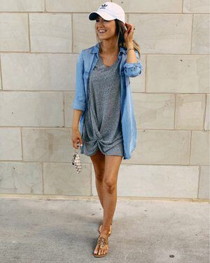 Blue colour combination with leggings, shorts, skirt