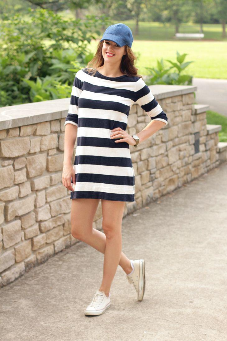 Dress with baseball cap, fashion accessory, online shopping, street fashion, baseball cap