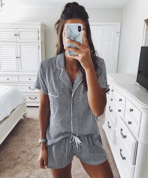 Instagram fashion cute pajamas outfits, romper suit, casual wear