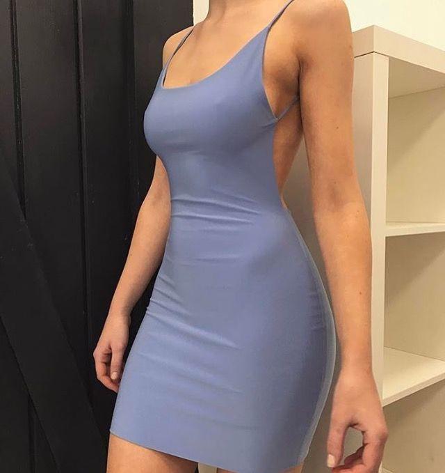 Skin tight backless dress, backless dress, cocktail dress, wedding dress