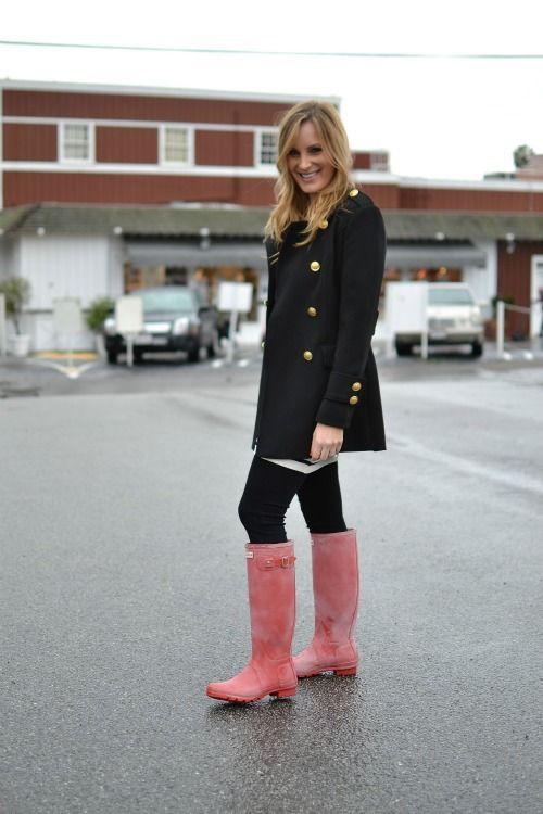 Outfit botas rosadas hunter hunter boot ltd, knee high boot