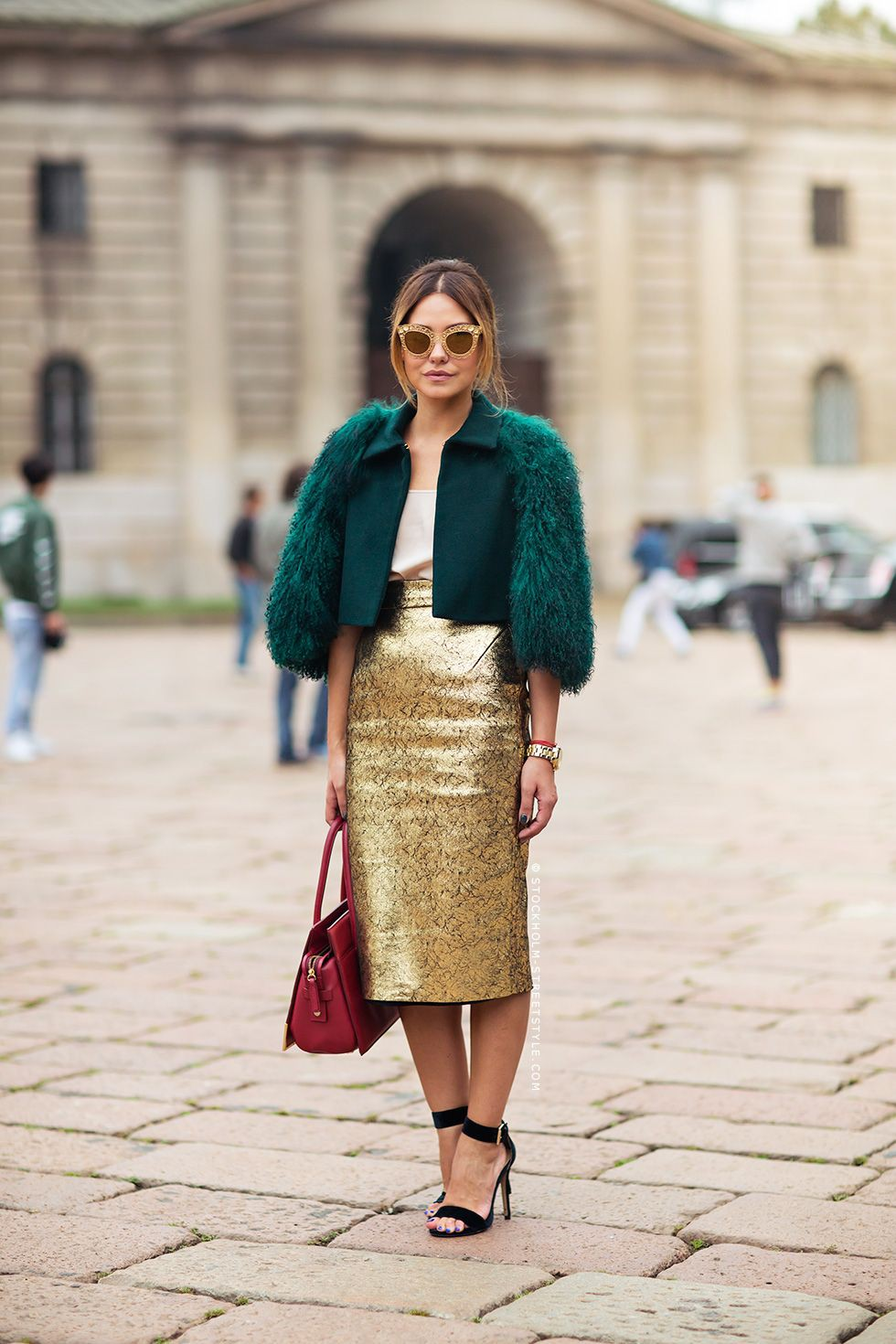 Turquoise and yellow outfit Stylevore with pencil skirt, skirt