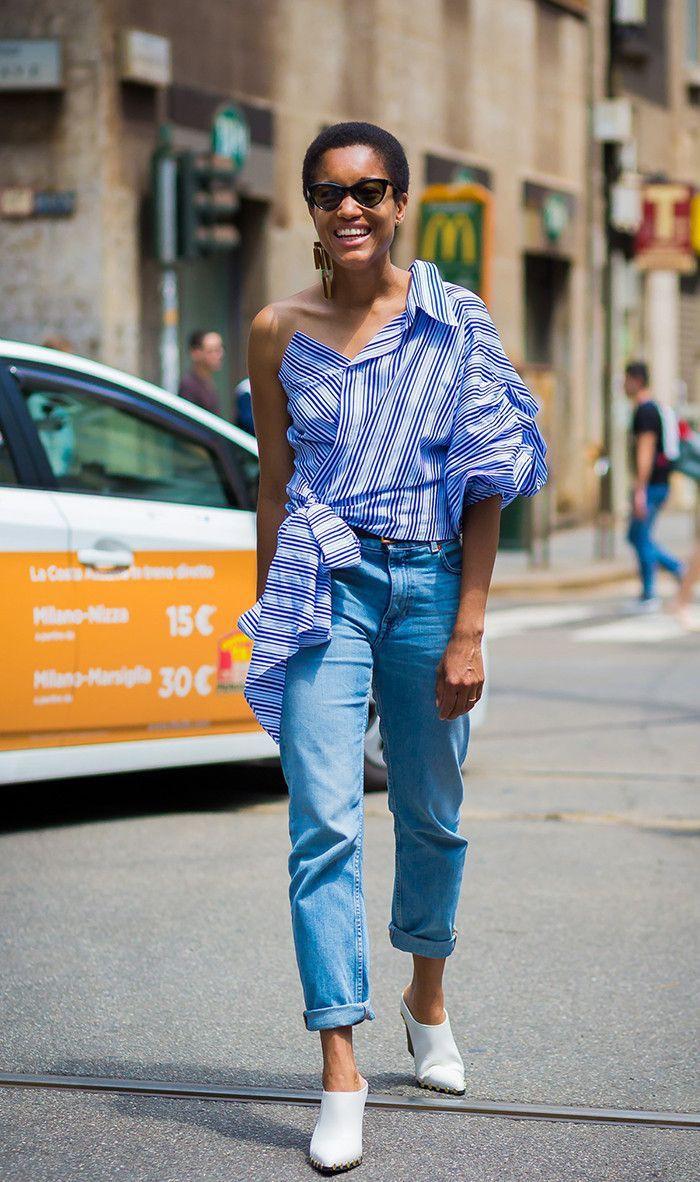 Wear jeans in summer, street fashion, casual wear, t shirt